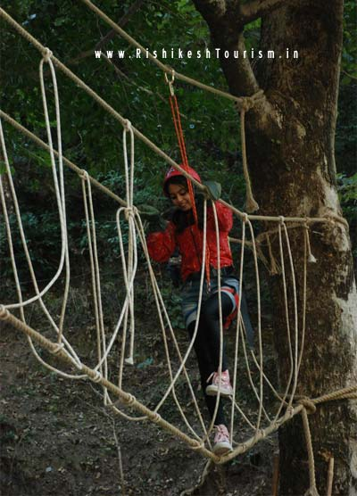 Rishikesh TOURISM :- Adventure In Rishikesh - Double Rope Bridge