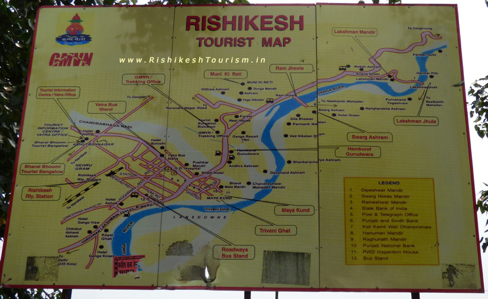 Full Map of Rishikesh